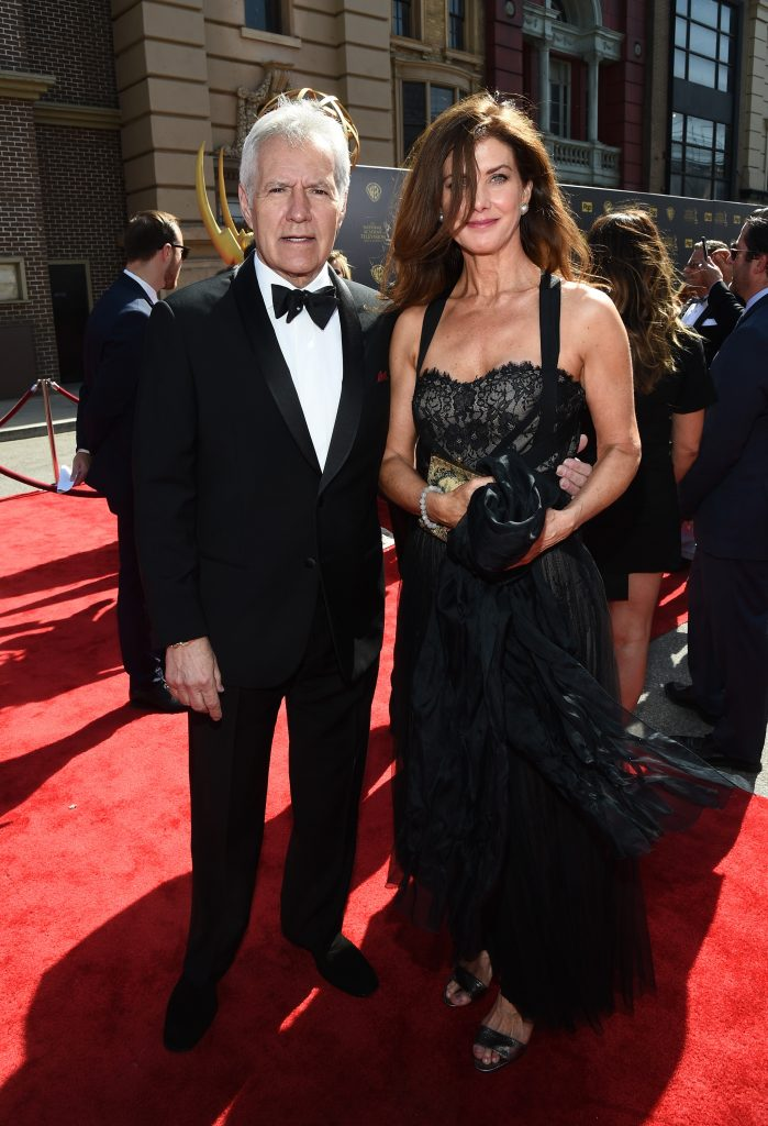 Alex Trebek and Jean Currivan Trebek attend The 42nd Annual Daytime Emmy Awards