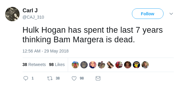 Carl J Tweet on Bam Margera