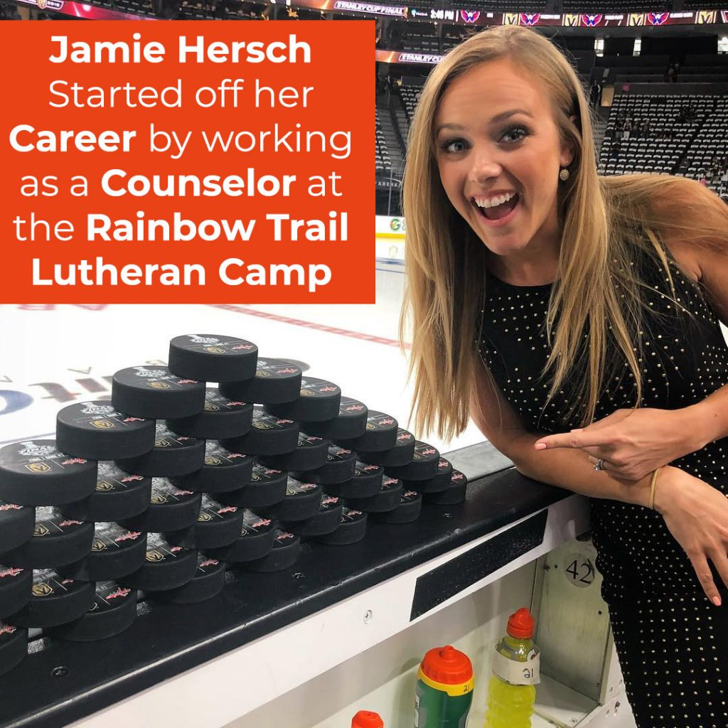 Hersch Started off her Career by working as a Counselor at the Rainbow Trail Lutheran Camp