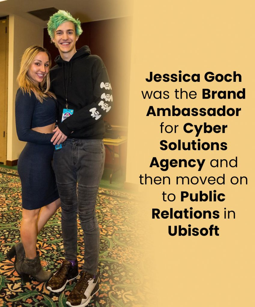 Jessica Goch was the brand ambassador for Cyber Solutions Agency