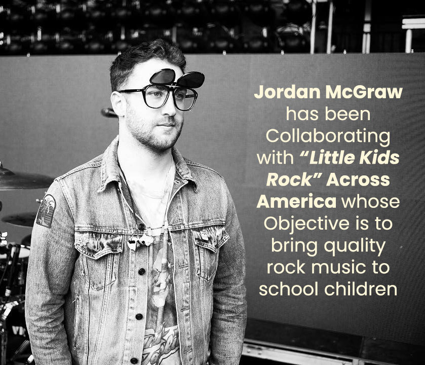 Jordan McGraw has been collaborating with Little Kids Rock Across America whose Objective is to bring quality rock music to school children