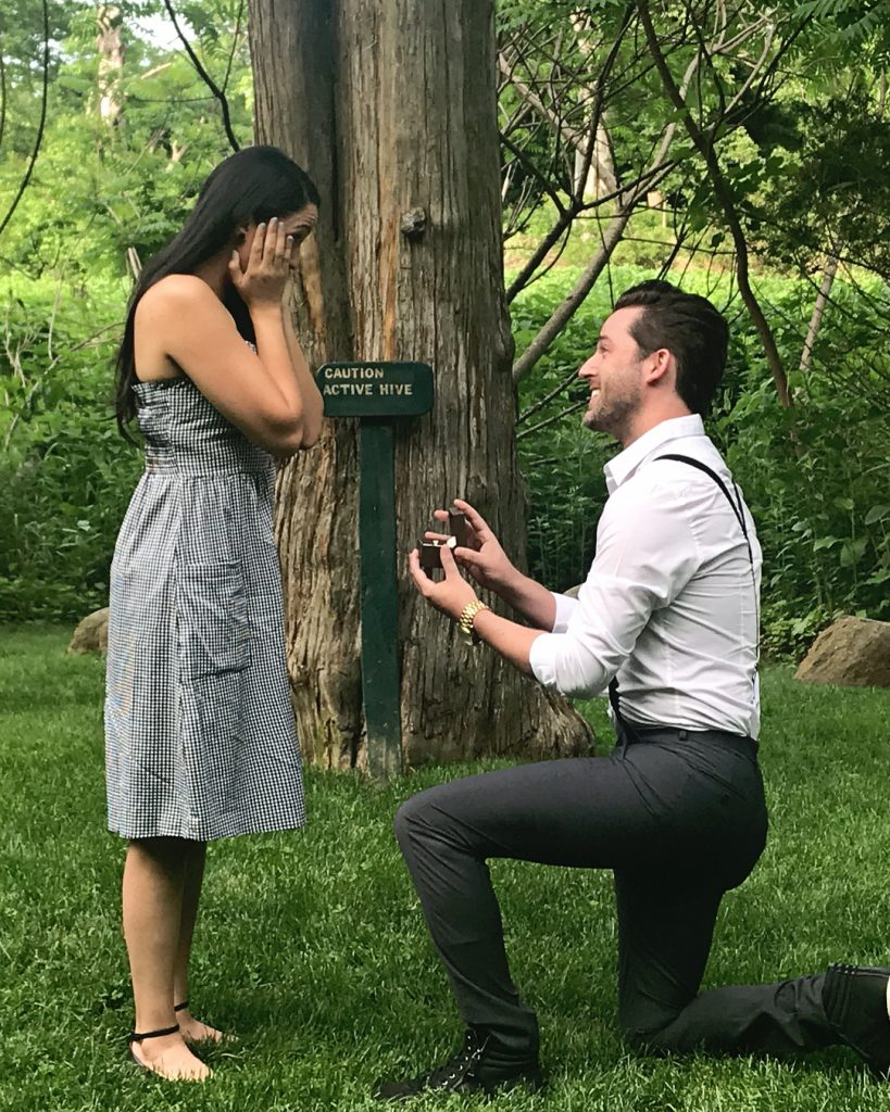 Joshua Evans proposes to his longtime girlfriend, Pamela Rose Rodriguez