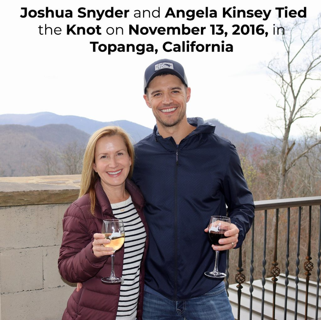 Joshua Snyder and Angela Kinsey Tied the Knot on November 13, 2016, in Topanga, California
