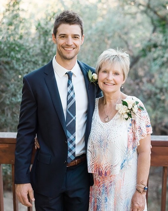Joshua Snyder with his mother, Lynne Snyder