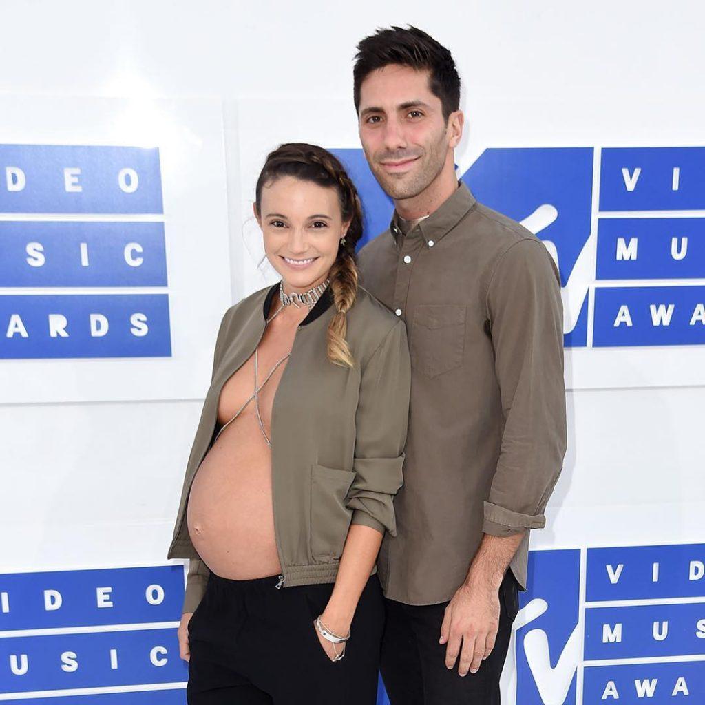 Laura Perlongo and Nev Schulman at the VMAs