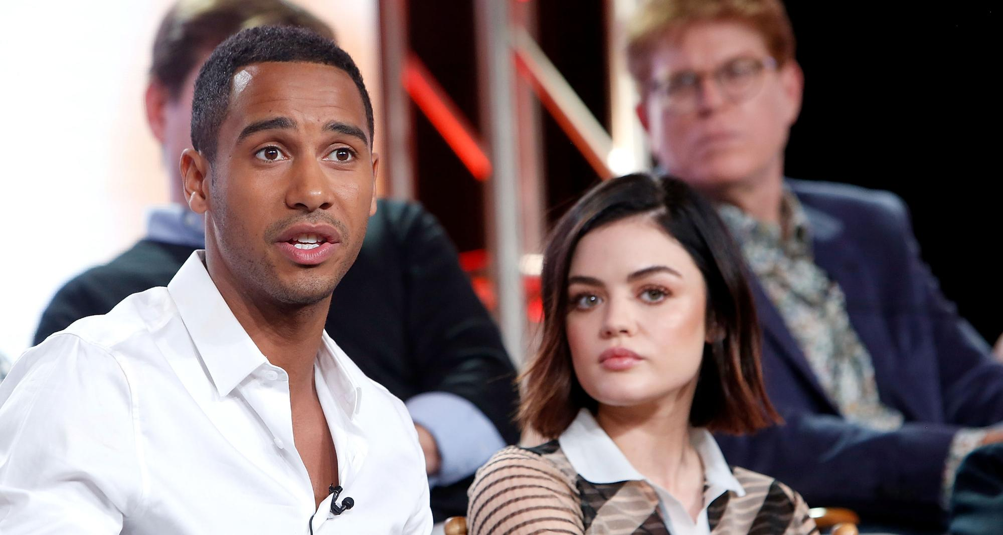 Lucy Hale and Elliot Knight