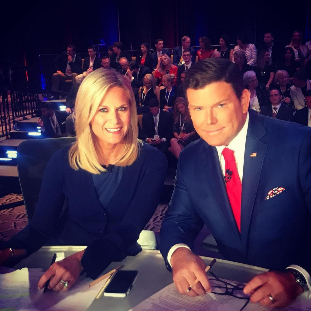 Martha Maccallum with Bret Baier