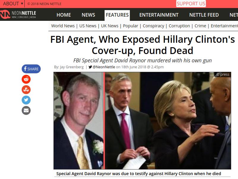 Neon Nettle Hillary Clinton News