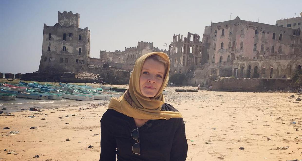 PBS Newshour correspondent, Jane Ferguson in Mogadishu City