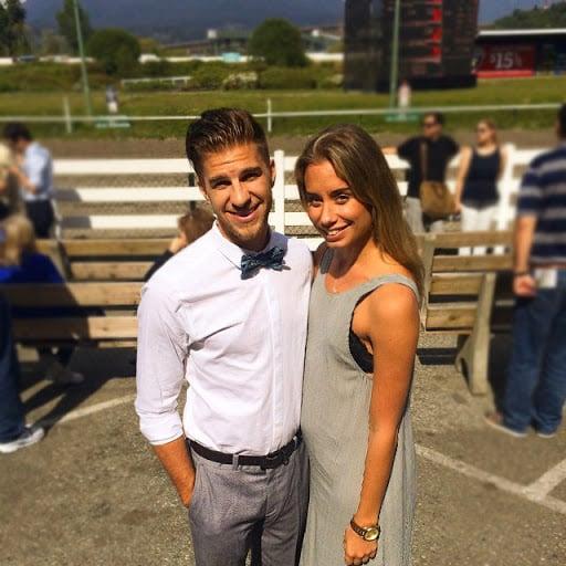 Ryker Gamble With His Girlfriend