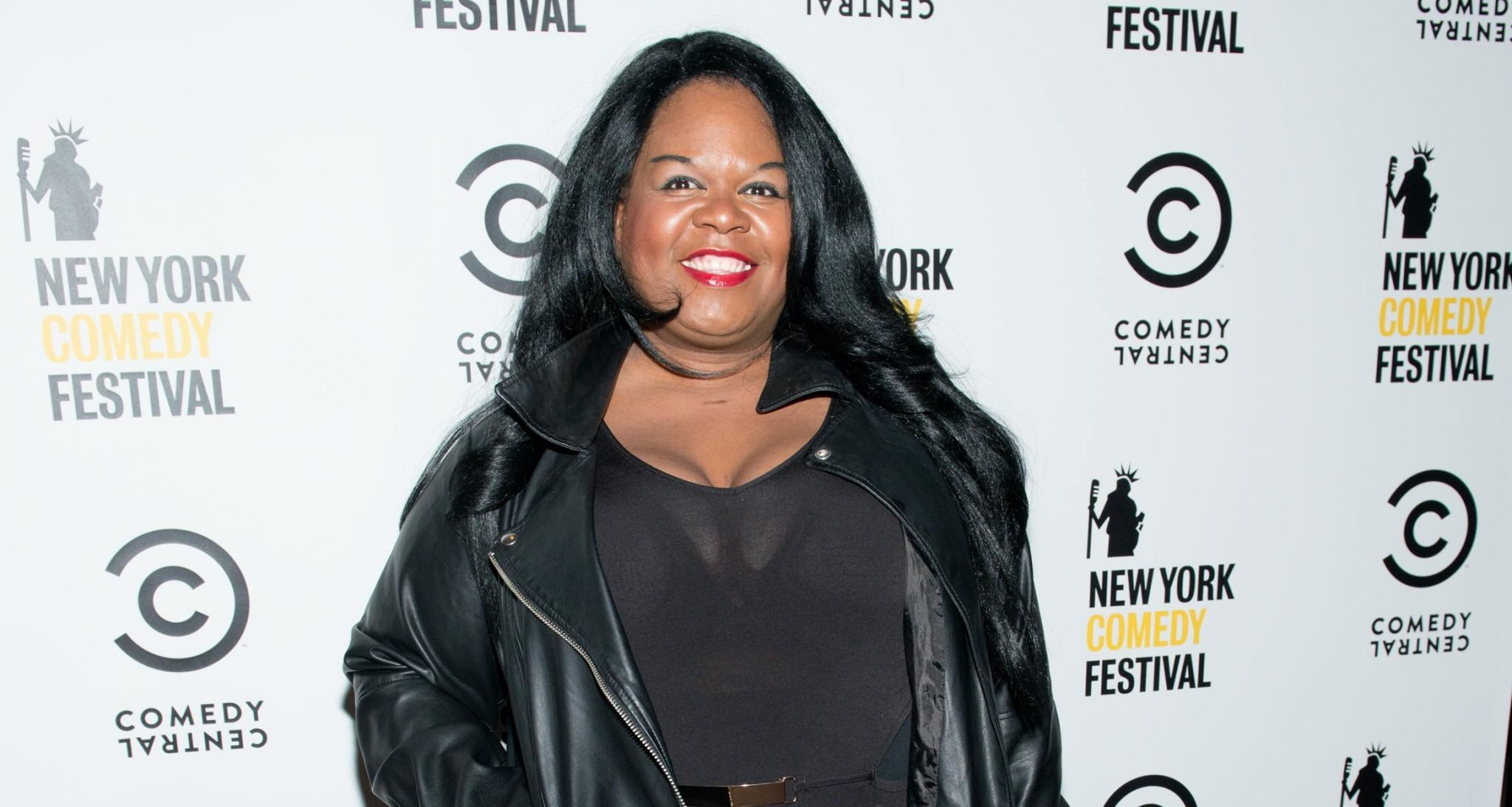 Yamaneika Saunders at Comedy Central's New York Comedy Festival kick-off party