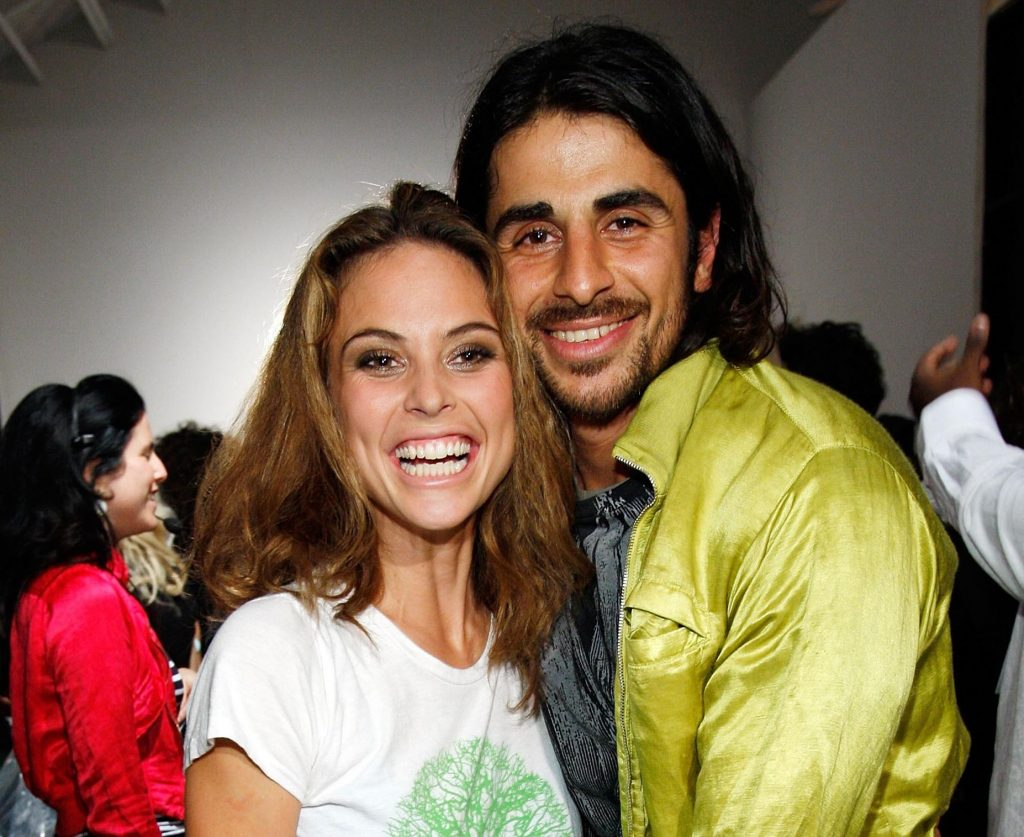Ali Abrozi with Josie Maran