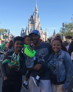 Christopher Morgan with Kim Fields and Kids