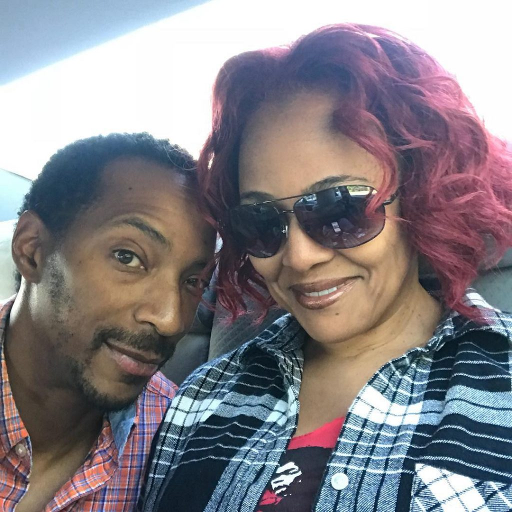Christopher Morgan with his wife, Kim Fields