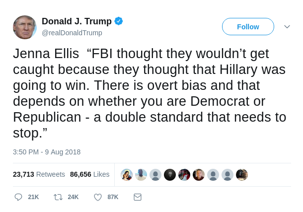 Donald Trump Jenna Ellis Tweet