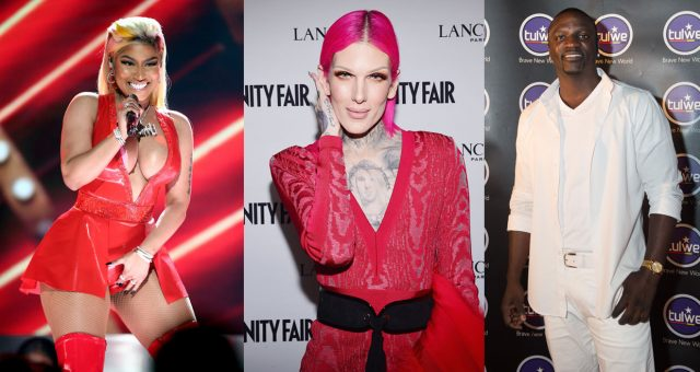 Jeffree Star, Akon and Nicki Minaj