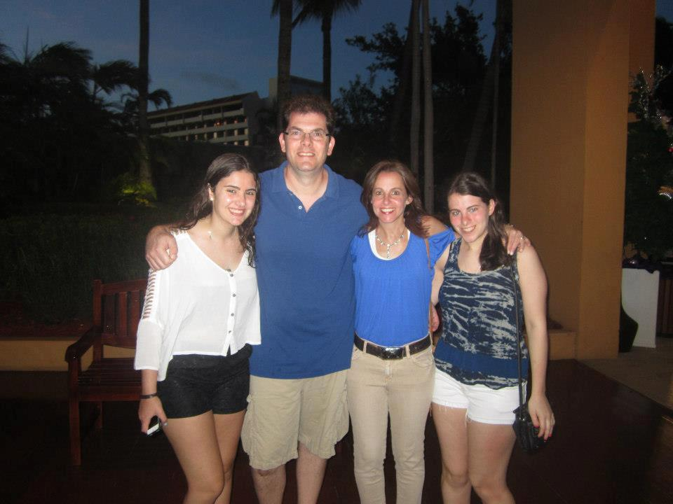 John and Debra Hein with their daughters, Rachel and Emily