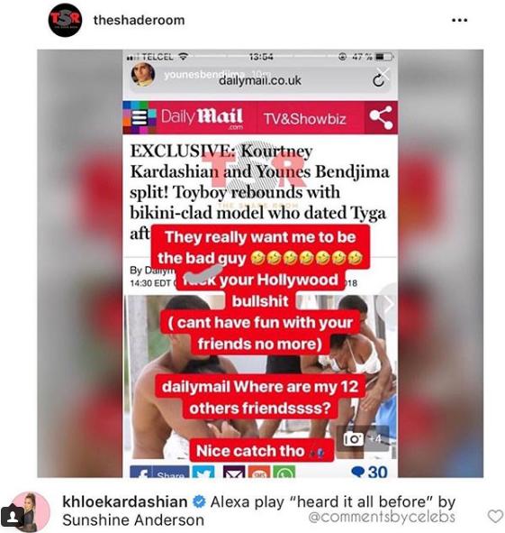 Khloe Kardashian's Comment