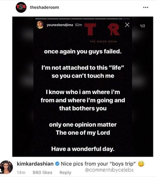 Kim Kardashian's Comment