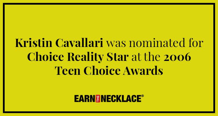 Kristin Cavallari's Nomination