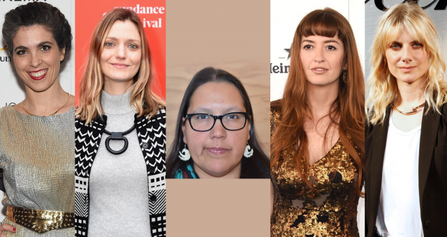 (Left to right)Eva Husson,Sarah Colangelo,Darlene Naponse,Marielle Heller and Mélanie Laurent