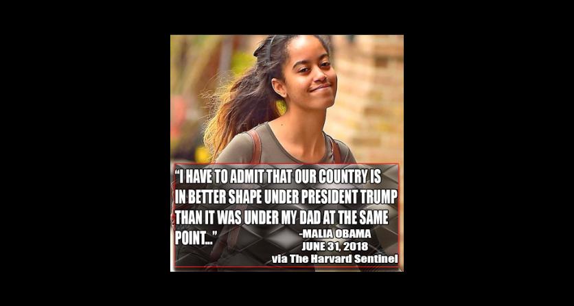 Malia Obama's Trump Quote
