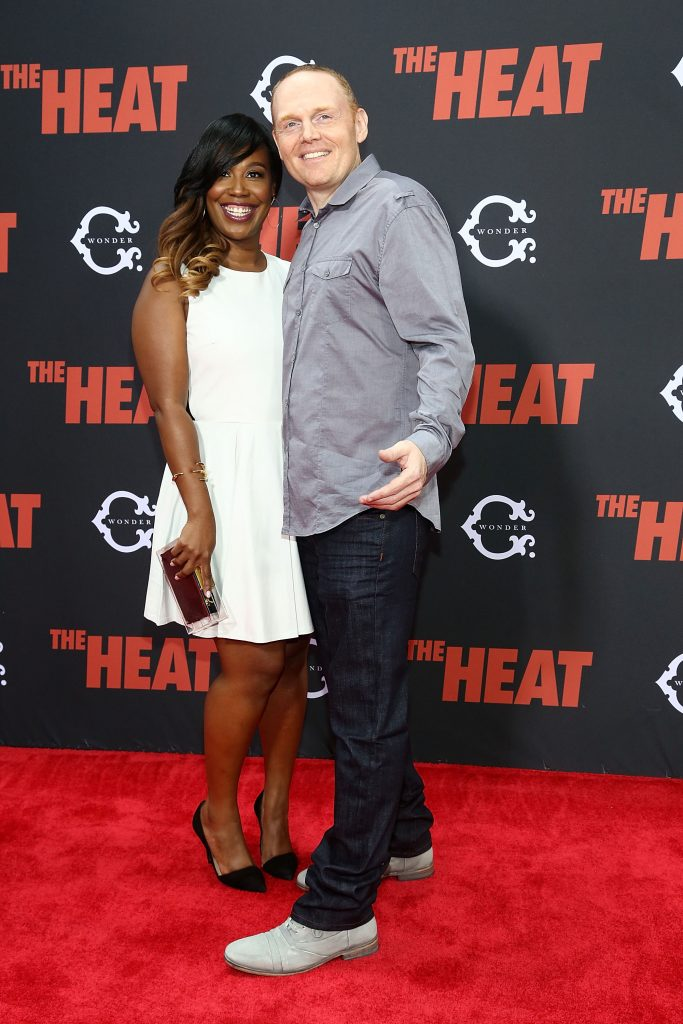Nia Renee Hill and Bill Burr attend 'The Heat' New York Premiere at Ziegfeld Theatre