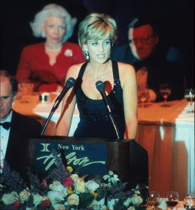 Princess Diana at Awards Gala