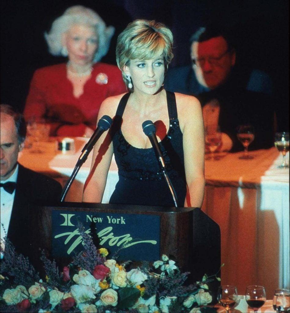 Princess Diana at Awards Gala