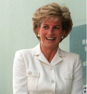 Princess Diana in White