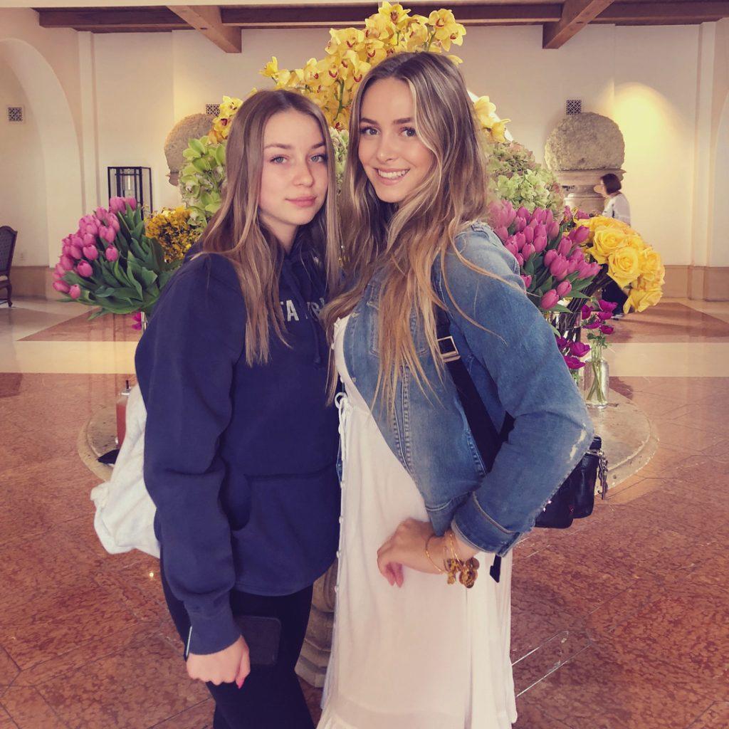 Raine Michaels with sister, Jorja Bleu Michaels