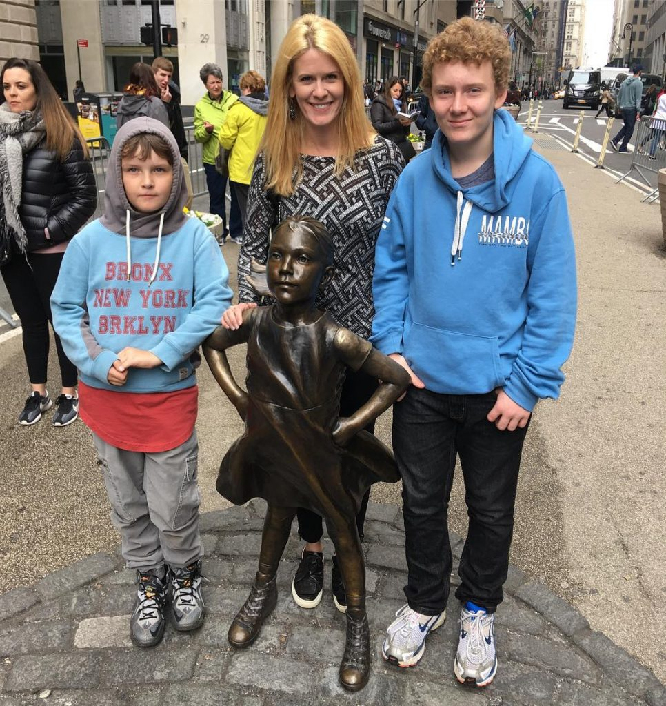 Simon Van Kempen's wife, Alex McCord with her sons Francois and Johan