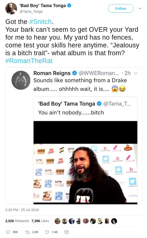 Tama Tonga Tweet