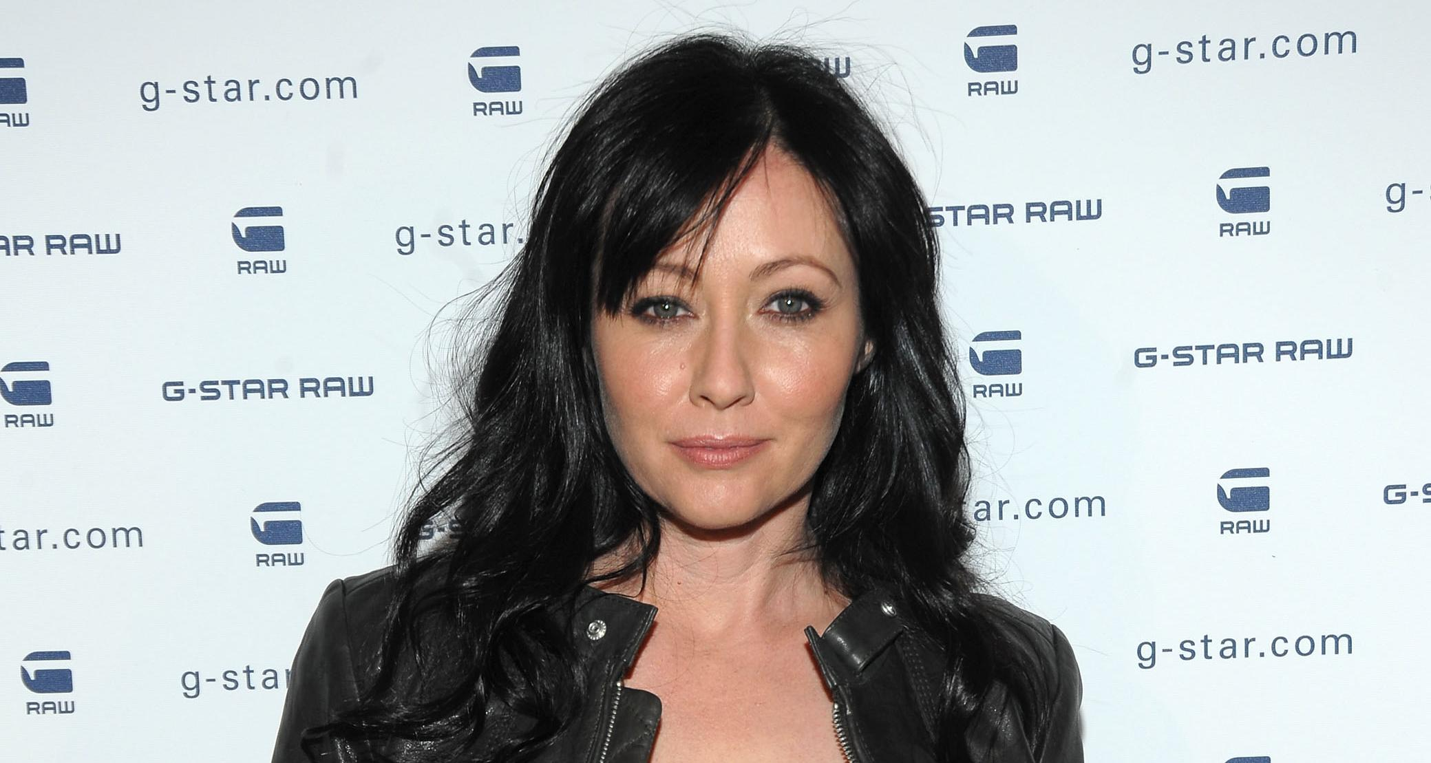Actress Shannen Doherty backstage at G-Star Raw Presents NY Raw Fall,Winter 2010 Collection at Hammerstein Ballroom