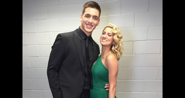 Andre Murillo with wife, Tori Kelly