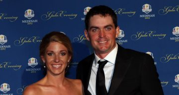 Keegan Bradley of the USA and his partner Jillian Stacey attend the 39th Ryder Cup Gala at Akoo Theatre