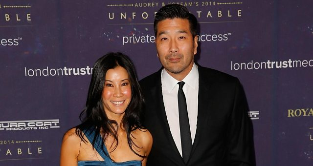 Lisa Ling and husband, Paul Song arrive at the 2014 Unforgettable Awards presented by Royal Salute at the Park Plaza Hotel