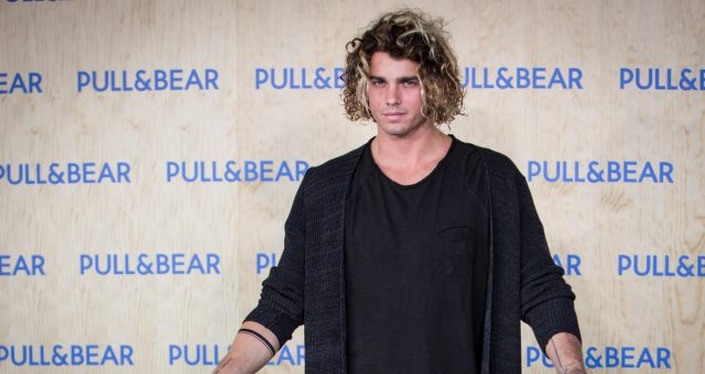 Model Jay Alvarrez attends the opening of the new Pull&Bear eco-friendly headquarters