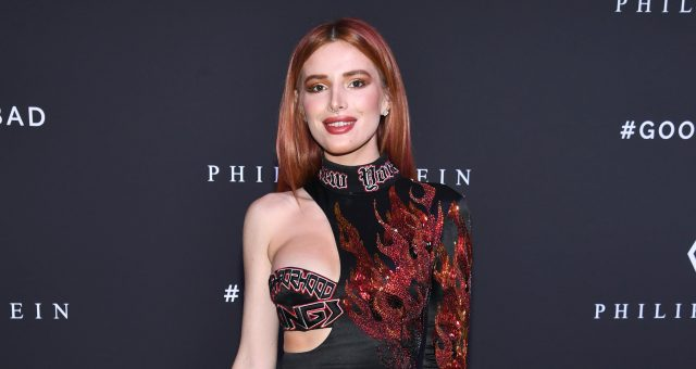 Bella Thorne attends the Philipp Plein fashion show during New York Fashion Week: The Shows at Hammerstein Ballroom