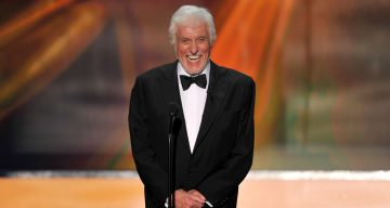 Actor Dick Van Dyke speaks onstage during the 18th Annual Screen Actors Guild Awards at The Shrine Auditorium