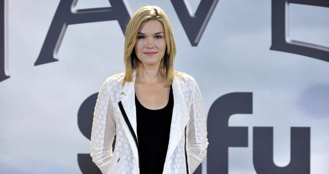 Emily Rose attends 'Haven' photocall