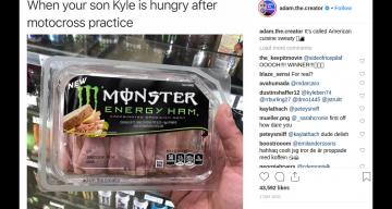 Monster Energy Ham Post