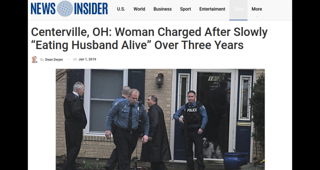 Centerville OH Woman Eats Husband Alive