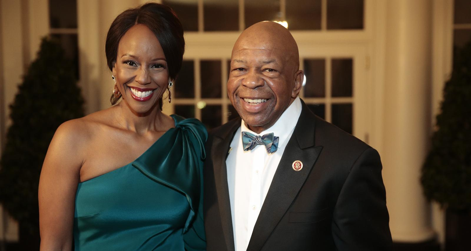 Elijah Cummings with wife Maya Rockeymoore