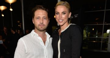 Naomi Lowde-Priestley with Husband Jason Priestley