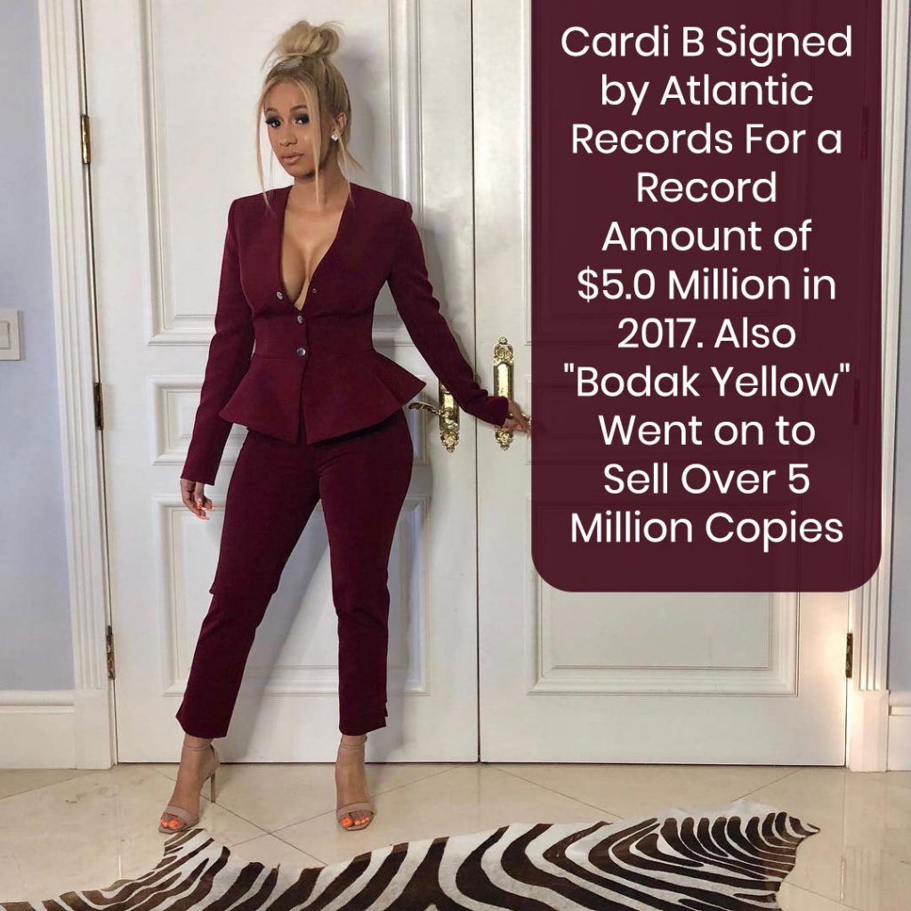 Cardi B Signed by Atlantic Records