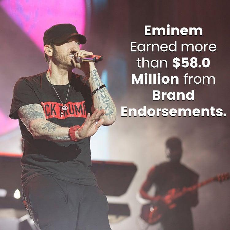 Eminem earned from brand endorsements