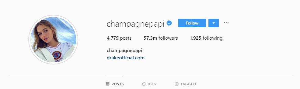 Drake Profile Pic set to Mallory Edens