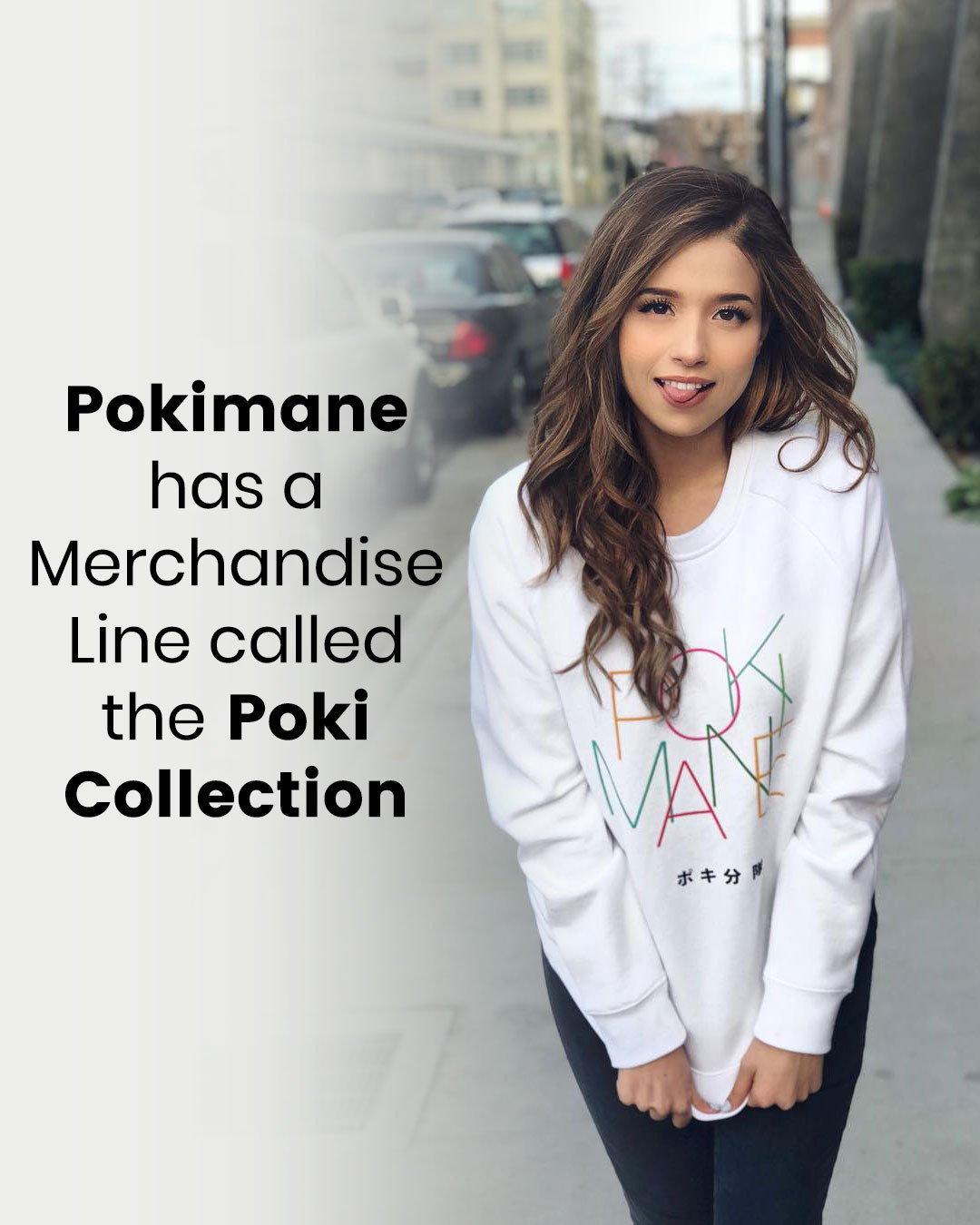 Pokimane has a Merchandise Line