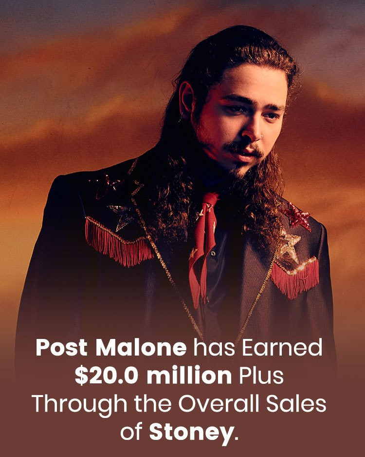Post Malone earned $20.0 million